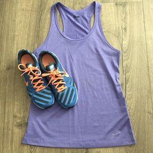 Nike dri fit purple tank ~ Size Small